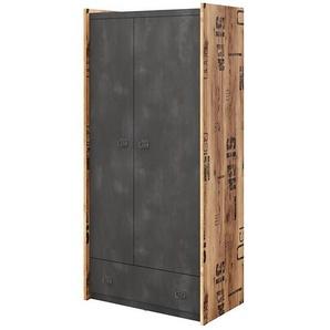 Armoire 2 portes et 1 tiroir Fargo - Graphite