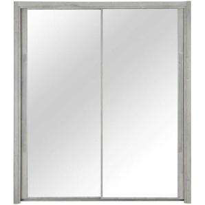 Armoire 2 portes L.150 cm CYRUS coloris gris clair