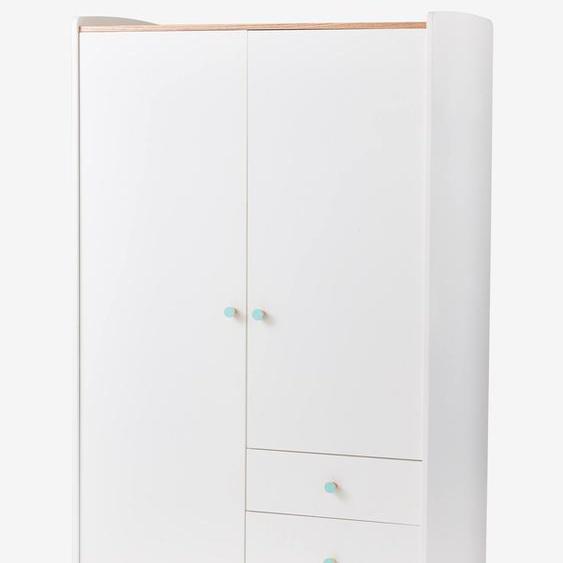 Armoire 2 portes LIGNE CONFETTI blanc/bois