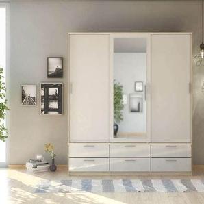 Armoire 3 portes + 6 tiroirs LAKE coloris chêne sonoma structuré