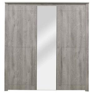 Armoire 3 portes battantes EDEN coloris chêne gris