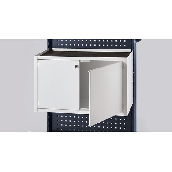 Armoire à portes battantes - l x p x h 760 x 450 x 330 mm - gris clair - Coloris façade: gris clair RAL 7035 - CERTEO