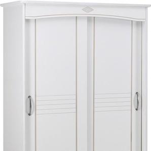 Armoire blanche 2 portes coulissantes L130