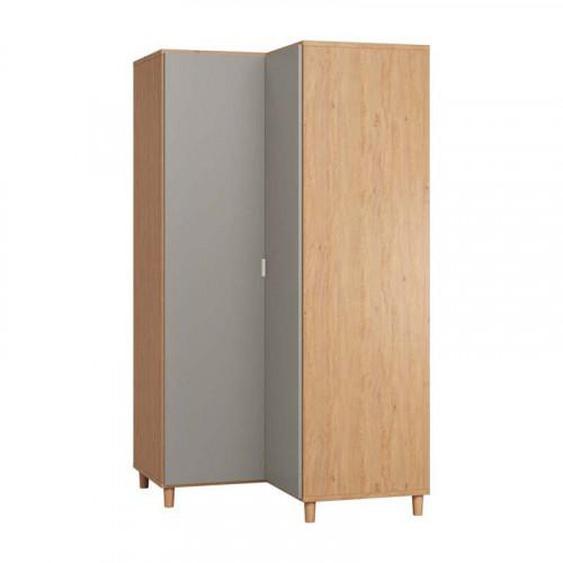 Armoire dangle SIMPLE pour chambre adulte - chêne - Panneaux stratifiés -