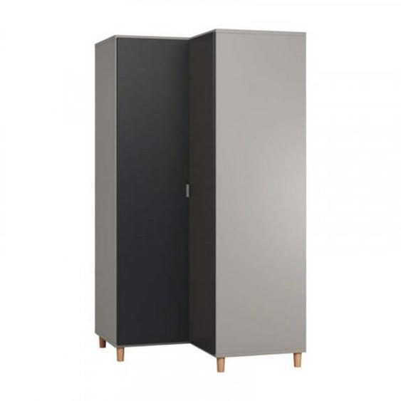 Armoire dangle SIMPLE pour chambre adulte - gris - Panneaux stratifiés -