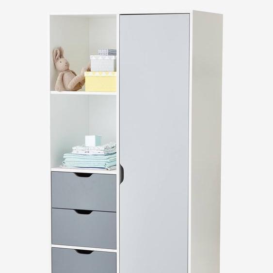 Armoire LIGNE PASSE-PASSE blanc/gris