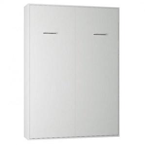 Armoire lit escamotable SMART-V2 blanc mat couchage 140*200 cm.