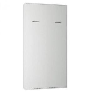 Armoire lit escamotable SMART-V2 blanc mat couchage 90*200 cm.