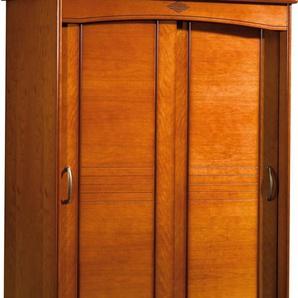 Armoire merisier 2 portes coulissantes L130