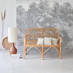 assise double chaise banquette rotin naturel mobilier de salon-séjour