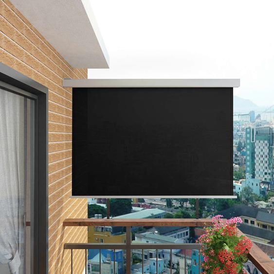 Auvent Latéral De Balcon Multifonctionnel 180 X 200 Cm Noir