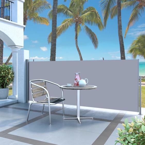 Auvent Latéral Rétractable 120 X 300 Cm Blanc Cassé