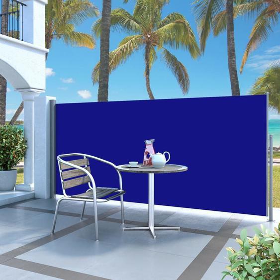 Auvent Latéral Rétractable 120 X 300 Cm Bleu