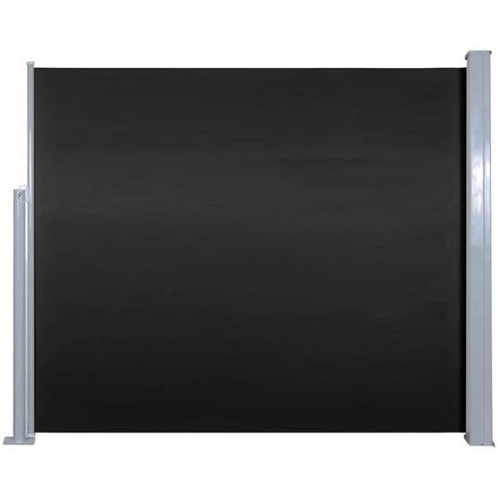 Auvent Latéral Rétractable 120 X 300 Cm Noir
