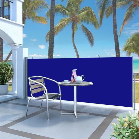 Auvent latéral rétractable 140 x 300 cm Bleu - ZQYRLAR