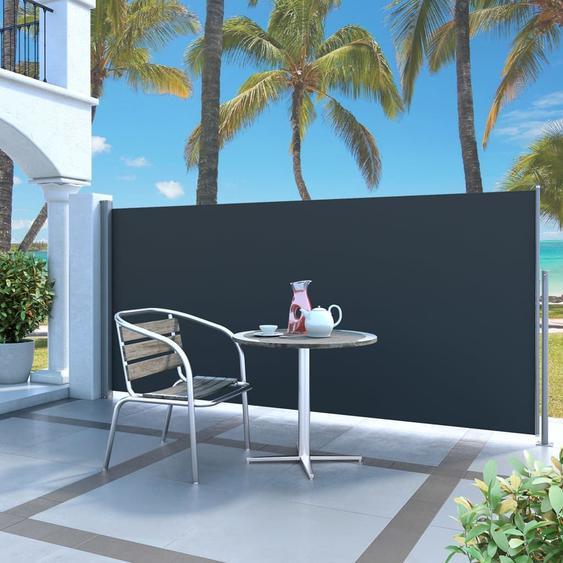 Auvent Latéral Rétractable 140 X 300 Cm Noir