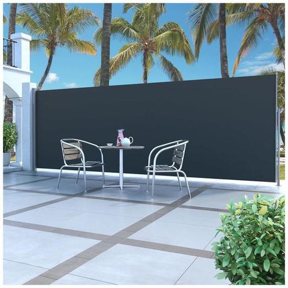 Auvent latéral rétractable 160 x 500 cm Noir - ZQYRLAR