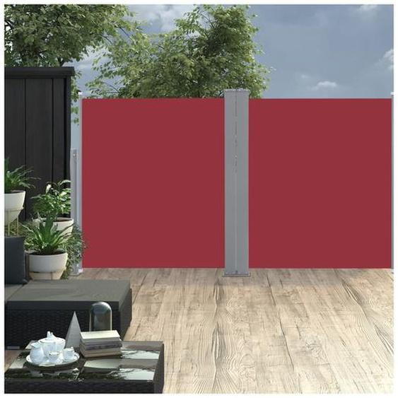 Auvent latéral rétractable 170 x 600 cm Rouge - ZQYRLAR