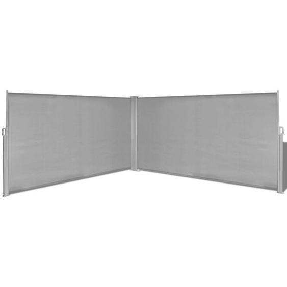Auvent Latéral Rétractable Gris De 160x600 Cm