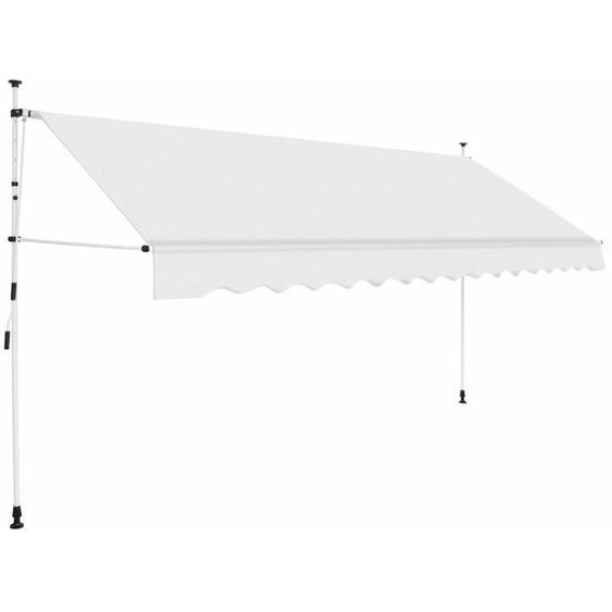 Auvent manuel rétractable 350 cm Crème - VIDAXL