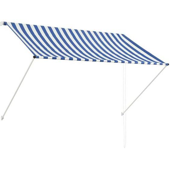 Auvent Rétractable 200x150 Cm Bleu Et Blanc