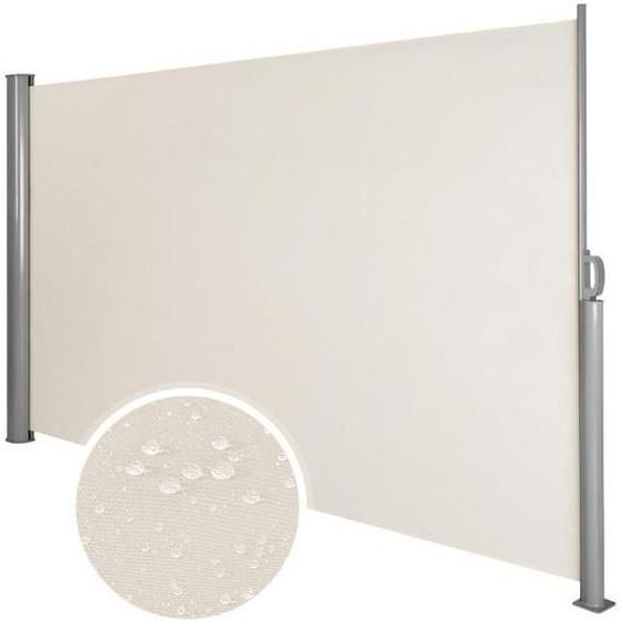 Auvent Store Latéral Brise-Vue Abri Soleil Aluminium Rétractable 160 X 300 Cm Beige Helloshop26 2208012