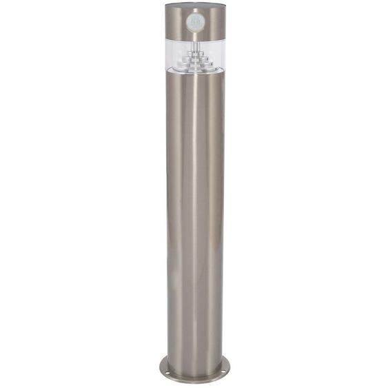 Balise LED Solaire Inti Inox avec Détecteur de Présence PIR Blanc Chaud 2800K - 3200K - Blanc Chaud 2800K - 3200K  - LEDKIA