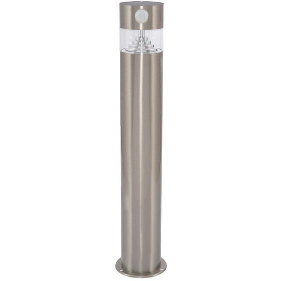 Balise LED Solaire Inti Inox avec Détecteur de Présence PIR Blanc Froid 5700K - 6200K - Blanc Froid 5700K - 6200K  - LEDKIA