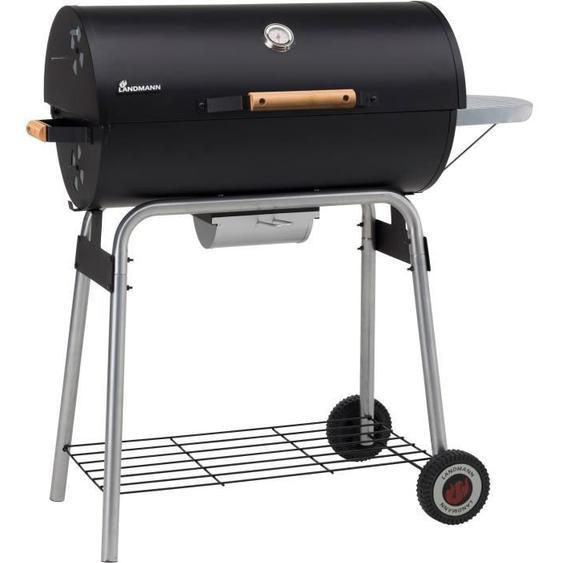 LANDMANN Barbecue à charbon Black Taurus 660 - Acier émaillée