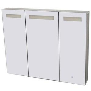 Best Design Aluma Armoire de toilette 100x80x13.5cm éclairage LED et softclose Aluminium 3803690