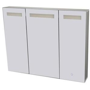 Best Design Aluma Armoire de toilette 120x80x13.5cm avec éclairage LED et softclose Aluminium 3803700
