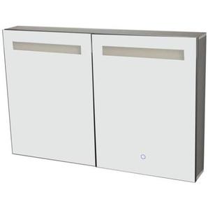 Best Design Aluma Armoire de toilette 80x60x13.5cm avec éclairage LED et softclose Aluminium 3803670