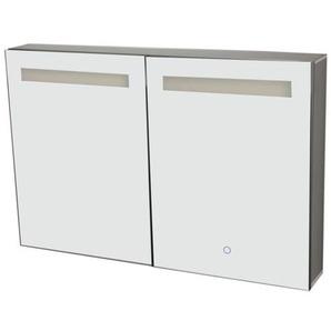 Best Design Aluma Armoire de toilette 90x60x13.5cm avec éclairage LED et softclose Aluminium 3803680