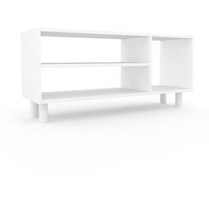 Bibliothèque - Blanc, design, étagère pour livres, sophistiquée, ouverte et fonctionelle - 116 x 53 x 35 cm, personnalisable
