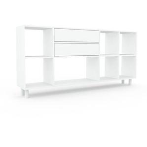 Bibliothèque - Blanc, modèle tendance, rangements pour livres, avec tiroir Blanc - 193 x 91 x 35 cm, modulable