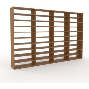 Bibliothèque en chêne, bois massif, aspect intemporel et naturel, étagère pour livres de qualité, solide et robuste - 301 x 195 x 35 cm