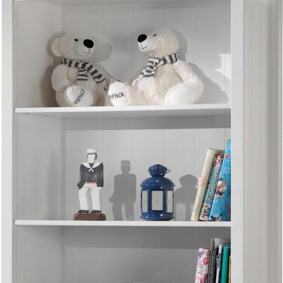 Bibliothèque enfant laqué blanc 4 niveaux 1 tiroir LEWIS