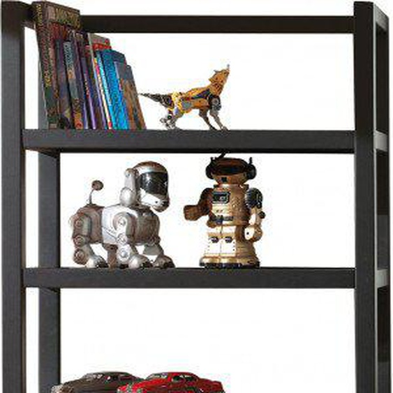 Bibliothèque enfant pin massif 2 portes 3 étagères ALEX