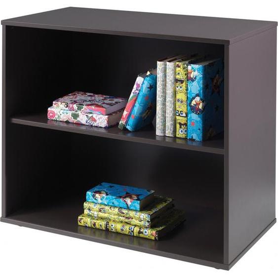 Bibliothèque enfant pin massif gris 3 niches – PINO