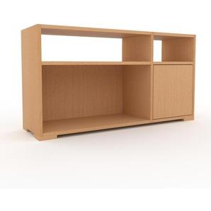 Bibliothèque - Hêtre, pièce de caractère, rangements raffiné, avec porte Hêtre - 116 x 62 x 35 cm, configurable