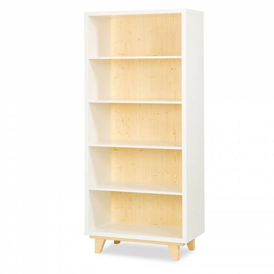 Bibliothèque scandinave blanche Lydia Blanc