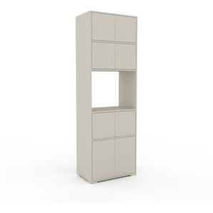 Bibliothèque - Vert de gris, pièce de caractère, rangements raffiné, avec porte Vert de gris - 77 x 235 x 47 cm, configurable