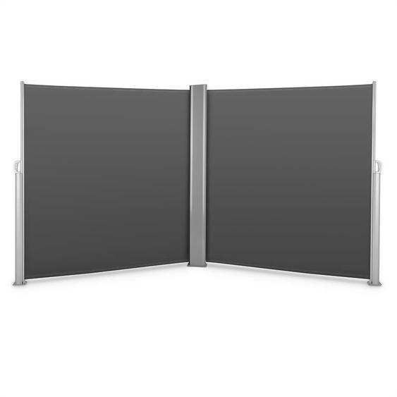 Blumfeldt Bari Doppio 620 Double store latéral 6x2,0 m aluminium - anthracite