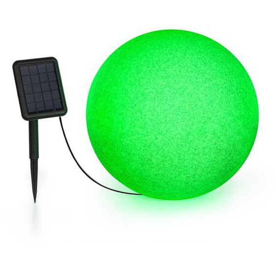 Blumfeldt Shinestone Solar 40 Globe Lampe Panneau Solaire Ø 40 Cm Led Rvb Ip68 Batterie
