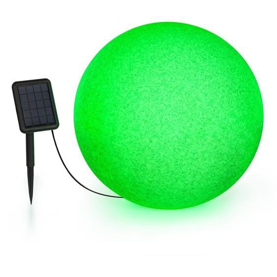 Blumfeldt Shinestone Solar 50 Globe Lampe Panneau Solaire Ø 50 Cm Led Rvb Ip68 Batterie
