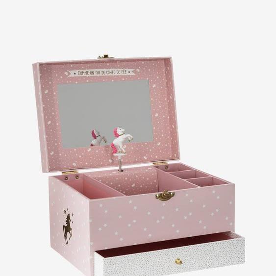 Boîte à bijoux musicale Licorne rose