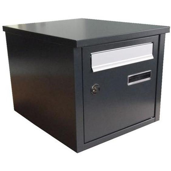 Boîte aux lettres acier 2 portes gris (RAL 7035)