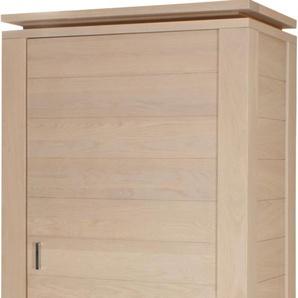 Bonnetière 1 porte 1 tiroir chêne blanc pierre