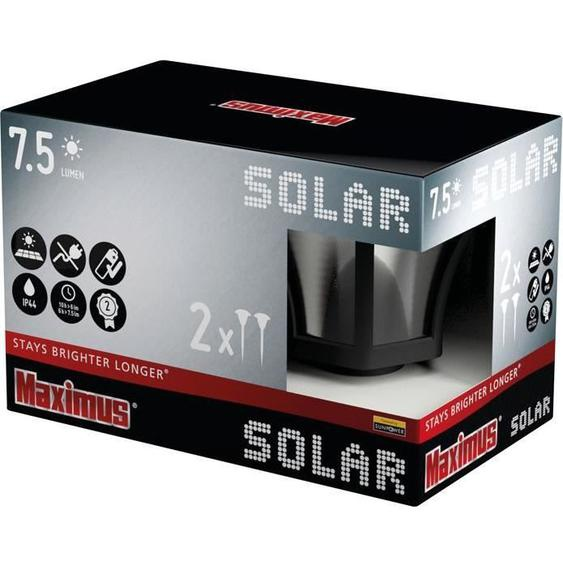 Borne solaires x2 Maximus 7.5 lumens