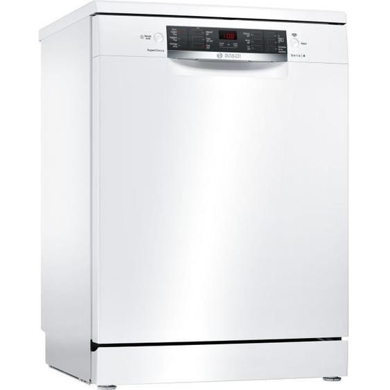 Lave-vaisselle pose libre BOSCH SMS46JW01F Série 4 - 13 couverts - Largeur 60 cm - Classe A++ - 42 dB - Blanc